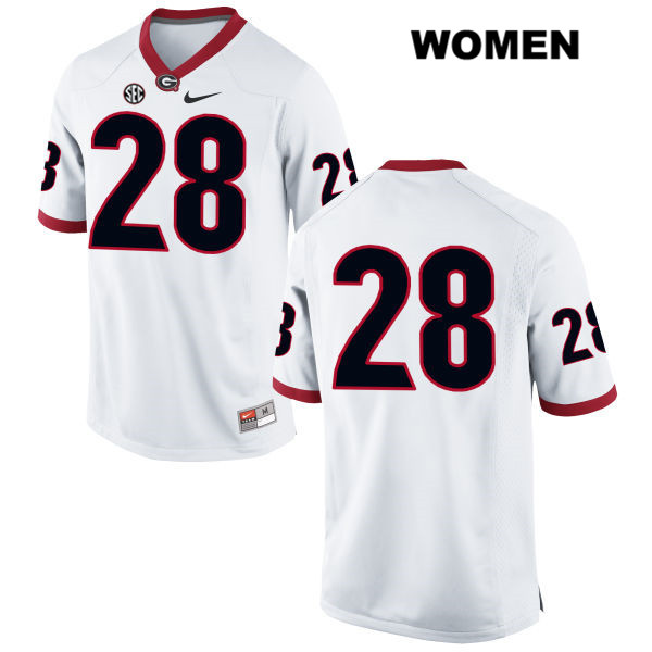 Nike Otamere Enadeghe Georgia Bulldogs no. 28 Womens Stitched White  Authentic College Football Jersey - No Name 790237203